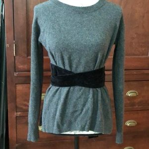 J. crew cashmere sweater with velvet bow xs